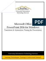 Powerpoint 2016 Pc Transitions Animations Timing Booklet
