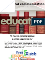 Pedagogical Communication - Motivating Students in the Classroom