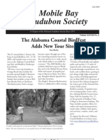 Fall 2009 Mobile Bay Audubon Society Newsletters