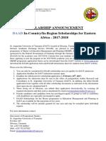 DAAD Advert Scholarships