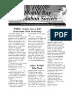 Spring 2007  Mobile Bay Audubon Society Newsletters