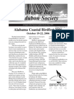 July-August-September 2006  Mobile Bay Audubon Society Newsletters