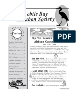 September-October 2004 Mobile Bay Audubon Society Newsletters