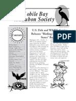 November-December 2003 Mobile Bay Audubon Society Newsletters