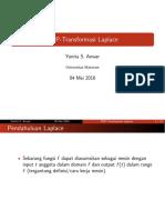 PDP Transformasi Laplace