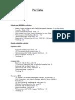 Portfolio Example English