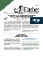 April 2009 Flicker Flashes Birmingham Audubon Society Newsletter