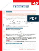 Fiche Defibac Reaction d Esterification
