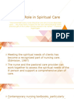 Role in Spiritual Care