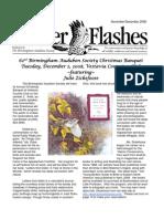 November-December 2008 Flicker Flashes Birmingham Audubon Society Newsletter