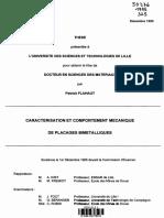 Caracterisation Et Comportement Mécanique de Placage Bimetallique
