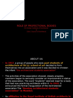 Role of Professional Bodies