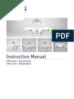 KippZonen Manual CMP CMA Series Pyranometers Albedometers V1501