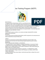 National Service Training Program
