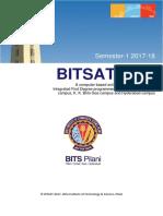 BITSAt 2017 Brochure
