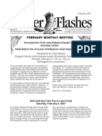 February 2007 Flicker Flashes Birmingham Audubon Society Newsletter