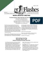March 2007 Flicker Flashes Birmingham Audubon Society Newsletter