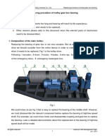 Replacing Procedure of Trolley Gear Box Bearing