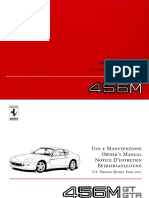 Owners Manual 456M 2001 US
