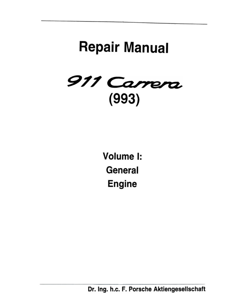 porsche 993 workshop manuals transmission mechanics manual rh scribd com Idle Speed No Wake Sign Idle Speed Motor