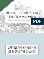 Disruption Innovation - 25 Jan