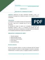 PRACTICA N-¦ 8 Densidad de Campo