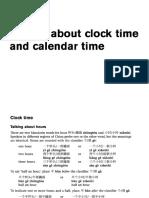 Clock Time&Calendar Time