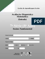 Modelo de Avaliação Diagnóstica - 8ºano - 1