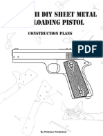 316103041 the MK 2 DIY Sheet Metal Self Loading Pistol ProfessorParabellum
