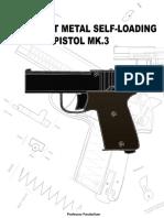 331653248 MK 3 DIY Sheet Metal Self Loading Pistol Professor Parabellum