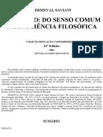 Demerval Saviani Do Senso Comum Consciencia Filosofica 1 .PDF