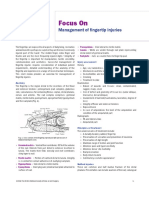 MANAGEMENT FINGERTIP INJURY