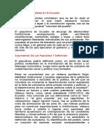 Introducción Y Lideres En El Ecuador