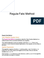 Regula Falsi Method