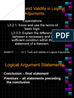 12.1 Truth and Validity in Logical Arguments