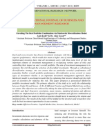 Unveiling the Best Portfolio Combination via Markowitz Diversification Model