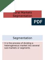 Rural Markets Segmentation
