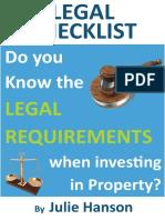 The Legal Checklist for Landlords V4