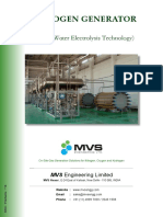 MVS Hydrogen Generator Product Catalogue