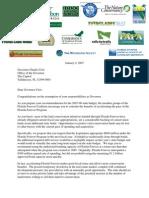 Florida Forever Letter to Florida Governor Charlie Crist