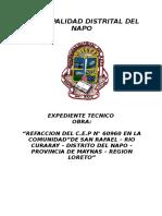 Especificaciones Refaccion San Rafael