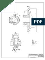 ENGRANAJE CONICO dibujo mecánico