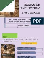 Estructura e.080 Adobe