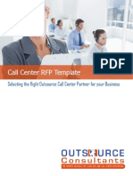Call Center RFP Template -Outsource Consultants