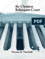 Public Opinion and the Rehnquist Court - Marshall, Thomas R.(Author)