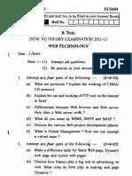 Web Technology ECS 604 6