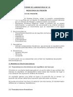 Informe de Lab. de Ing. Mecánica I N°01