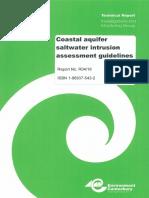 Coastal Aquifer Saltwater Intrusion Guidelines