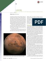The Mars Anomaly