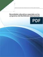 Necesidades Educativas Especiales en Los Programas Del Bachillerato Internacional